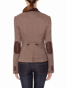 Houndstooth Elbow Patch Jacket