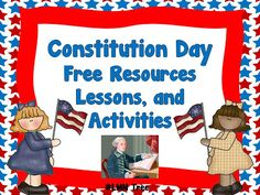 LMN Tree: Hooray for Constitution Day: Great Free Resources, Lessons, and Activities.  Great for working on citizenship requirements, and each section has grade-level activities!