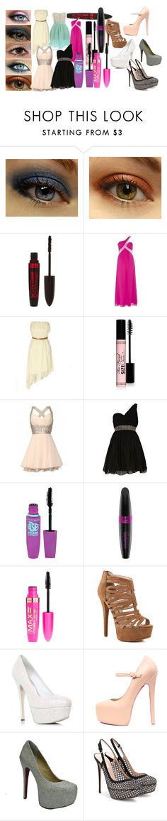 """Untitled #30"" by summer-luvin-girl ❤ liked on Polyvore featuring Urban Decay, Rimmel, Too Faced Cosmetics, Jones + Jones, River Island, Maybelline, Max Factor, Chinese Laundry, Miss KG and Valentino"