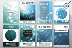 Set of templates for brochures by VectorShop on Creative Market