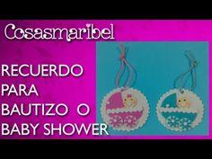 ▶ Recuerdo para bautizo o baby shower de goma eva,fácil ,rápido y barato. - YouTube