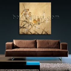 Elegant designed 1-panel canvas print on artist canvas with bird in abstract style. It is available in numerous sizes to fit any size room!