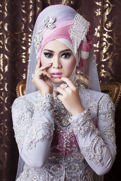 bridal hijab muslim wedding