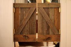 {SPUN} Saloon doors from reclaimed barn wood #reclaimed #barnwood #marianbuilt