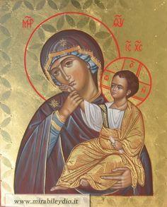 Madre della Consolazione e del Sollievo, di Vatopedi (Panagia Paramythia )-per mano di Cristina Capella-www.mirabileydio.it