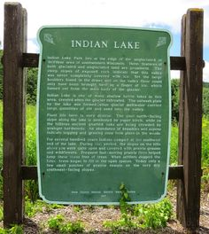 Wisconsin Historical Markers: Indian Lake