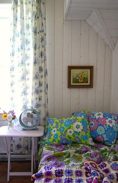 bedroom in our house by the lake... by rose hip..., via Flickr
