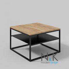 modern coffee table - Stolik kawowy z półką - dąb lefkas ciemny Coffee, Table, Furniture, Home Decor, Living Room, Kaffee, Decoration Home, Room Decor, Cup Of Coffee