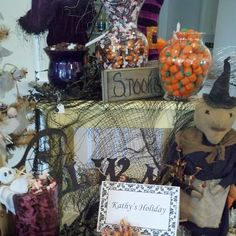 """Halloween """"Candy Buffet"""" by Kathy's Holiday.    www.kathysholiday.com"""