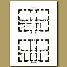 30 x 22 cm (12 x 8.7 inches).Plans of the principal floor and basementThis…