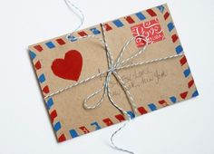 wanted to do this: DIY airmail stamp