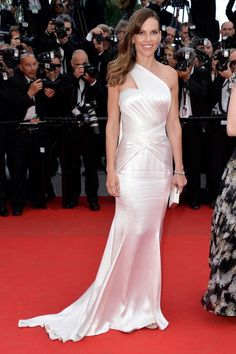 Fabulously Spotted: Hilary Swank Wearing Atelier Versace - 'The Homesman' 2014 Cannes Film Festival Premiere  - http://www.becauseiamfabulous.com/2014/05/hilary-swank-wearing-atelier-versace-the-homesman-2014-cannes-film-festival-premiere/