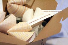 DIY fortune cookie out of paper. Could be for party invitation.