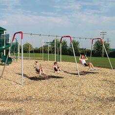 Sportsplay Modern Metal Swing Set - Commercial Playground Equipment at Hayneedle