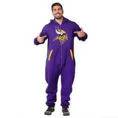 Minnesota Vikings Adult One Piece KLEW Sport Suit Sizes XS-XL w/ Priority Shipping