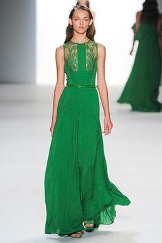 ELIE SAAB: Spring 2012 RTW... vivid emerald