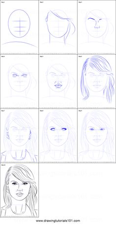 How to Draw Taylor Swift step by step printable drawing sheet to print. Learn How to Draw Taylor Swift Half Face Drawing, Basic Drawing, Taylor Swift Drawing, Taylor Swift Hair, Step By Step Sketches, Step By Step Drawing, Drawing Tutorials For Beginners, Drawing Sheet, Taylor Swift Wallpaper