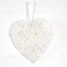White Heart Rattan LED Light