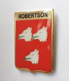 Robertson Clan Scotland Scottish Family Name Crest Pin Badge - My Heritage, British Army, Sew On Patches, Pin Badges, Scotland, Names, Military, Ebay, Life