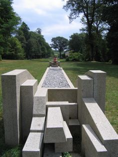 Something to do with order and entropy in a sculpture park in Brittany.