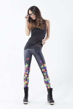 Tetris Leggings...if I saw someone with these on, it would make my day!!!