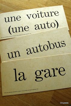 Vintage French Flashcards VEHICLE TRAVEL THEME by chrystelle, $10.00