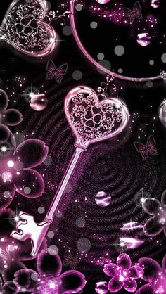 Key Mystery Wallpaper … After Artist Unknown … - Wallpapers Designs Glitter Wallpaper, Heart Wallpaper, Love Wallpaper, Galaxy Wallpaper, Cellphone Wallpaper, Wallpaper Backgrounds, Iphone Wallpaper, Valentine Wallpaper, Heart Background