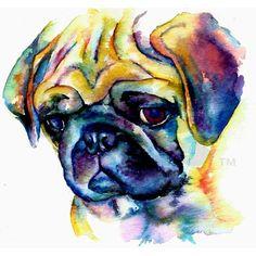 PUG watercolor!