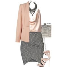 A fashion look from January 2015 featuring Alexandre Vauthier blouses, Kaliko blazers and ONLY skirts. Browse and shop related looks.