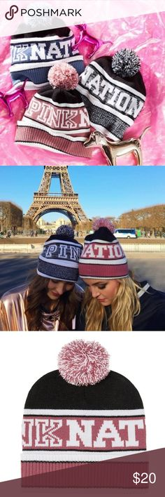 Vs PINK Nation Beanie Vs PINK Nation Beanie, brand new, listing is for 1 beanie only, please choose ur color below. PINK Victoria's Secret Accessories Hats
