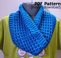Crochet Pattern Crochet Waffle stitch cowl with by Crochetkari