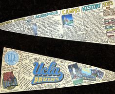 College research pennant project...this could surely be adapted to meet the needs of any class.