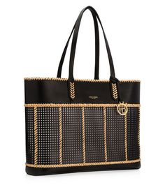 <p>Boast your mod beach polish with the Belport Woven Beach Tote. Crafted with perforated leather and raffia detailing, this designer tote features the always-handy removable and adjustable crossbody strap so you're mobile and ready for the next fabulous escapade—be it on land, sea, or in the sky. p>