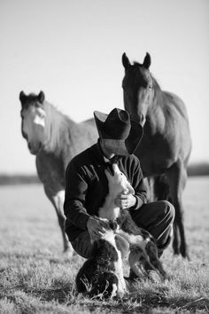A Beach Kowboy cares for his dogs!