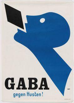 MoMA | The Collection | Niklaus Stoecklin. Gaba gegen Husten! 1927