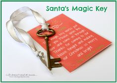 Santas Magic Key - www.wendycoppola.com Santa's Magic Key, Posts, Personalized Items, Blog, Christmas, Life, Xmas, Messages, Weihnachten