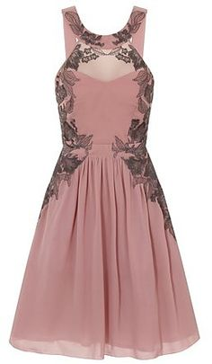 **Little Mistress Rose embellished mini dress - View All Sale - Sale & Offers - Dorothy Perkins Pink And Red Dress, Rose Pink Dress, Dress Red, Red Chiffon, Chiffon Dress, Embellished Shorts, Fit N Flare Dress, Pink Fashion, Mistress