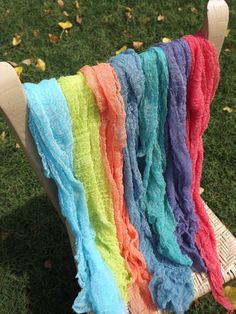 Set of 5 Cheesecloth baby wraps, photography prop. $20.00, via Etsy.