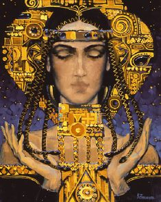Victor Nizovtsev...like Russian icon art, also has a distinct touch of Klimt