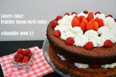 Dans la cuisine de Misstinguette: Fraisier façon forêt noire (layers cake de la bata... Layer Cakes, Facon, Dit, Cheesecake, Layers, Desserts, Battle, Wednesday, Food