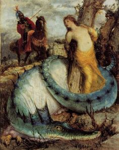 Arnold Bocklin - Roger and Angelica (1871-74)