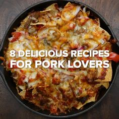 8 Delicious Recipes For Pork Lovers Healthy Filling Snacks, Yummy Snacks, Delicious Recipes, Yummy Food, Tasty, Healthy Recipe Videos, Healthy Recipes, Pork Recipes, Diet Recipes