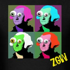 Multi Colored Zombie George Washington