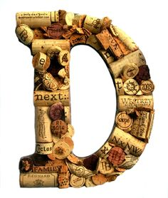 Customized Handmade Vintage Wine Cork Letter  by TheCountryBarrel, $67.50