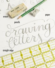 alisaburke introduction to lettering 02 How To: Introduction to Hand Lettering