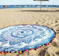 2016 Bohemia Round Beach Sarong With Tassels Lady Beach Cover Up Summer Toallas Swimming Sunbath Serviette De Plage
