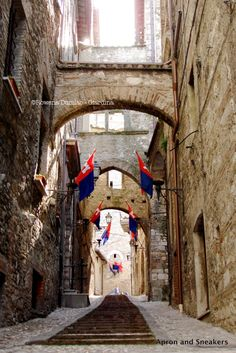Narni is well worth a visit. It's about an hour away via the freeway, but I recommend the scenic route (via Baschi), which goes through lovely small towns like Lugnano in Teverina. The second half of this post explains why it's such a fascinating place to visit. The beautifully well-preserved medieval and Roman architecture and ruins are enough to merit a visit, but don't miss the unforgettable underground tour.