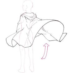 How-to Draw a Blustery Gustery Cape. ⚙Visit the art shop for small and … Comment dessiner un cap de venteux … Body Drawing, Drawing Base, Manga Drawing, Figure Drawing, Long Hair Drawing, Drawing Techniques, Drawing Tips, Drawing Sketches, Drawing Skills