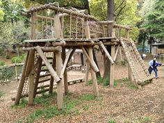 obstacle course ideas for kids | The kids would get to the top of one of these and want to stay there.