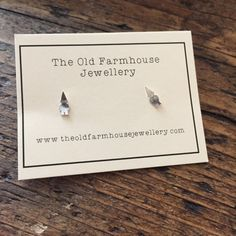 Tiny Gnome Studs by oldfarmhousejewelry on Etsy